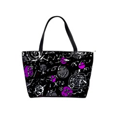Purple mind Shoulder Handbags