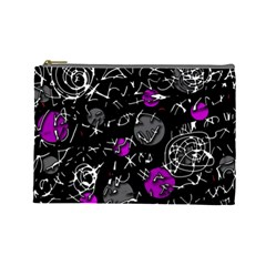 Purple mind Cosmetic Bag (Large)