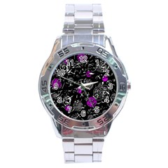 Purple mind Stainless Steel Analogue Watch
