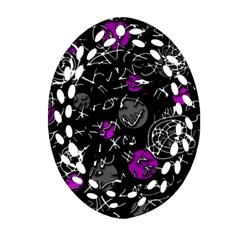 Purple mind Oval Filigree Ornament (2-Side)