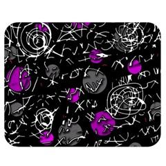 Purple mind Double Sided Flano Blanket (Medium)