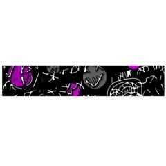 Purple mind Flano Scarf (Large)