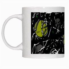 Yellow mind White Mugs