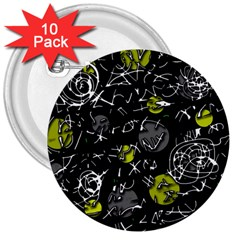 Yellow mind 3  Buttons (10 pack)