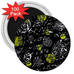 Yellow mind 3  Magnets (100 pack)