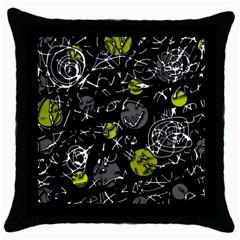 Yellow mind Throw Pillow Case (Black)
