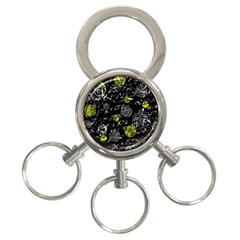 Yellow mind 3-Ring Key Chains