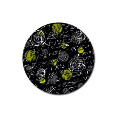 Yellow mind Rubber Round Coaster (4 pack)