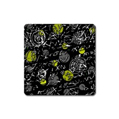 Yellow mind Square Magnet
