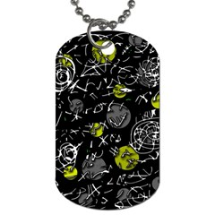 Yellow mind Dog Tag (Two Sides)