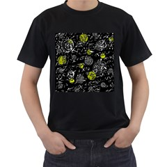 Yellow mind Men s T-Shirt (Black) (Two Sided)