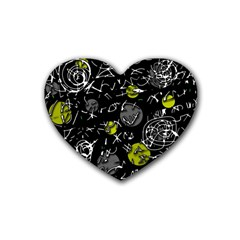 Yellow mind Rubber Coaster (Heart)
