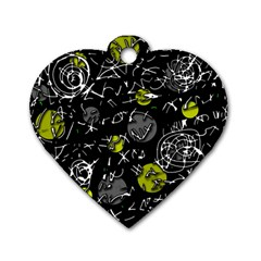 Yellow mind Dog Tag Heart (Two Sides)