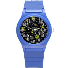 Yellow mind Round Plastic Sport Watch (S)