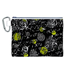 Yellow mind Canvas Cosmetic Bag (L)