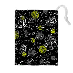 Yellow mind Drawstring Pouches (Extra Large)