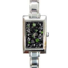 Green mind Rectangle Italian Charm Watch