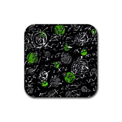 Green mind Rubber Coaster (Square)