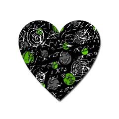 Green mind Heart Magnet