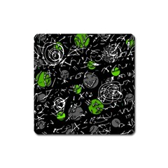 Green mind Square Magnet