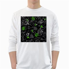 Green mind White Long Sleeve T-Shirts