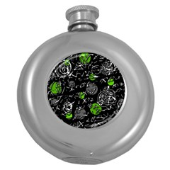 Green mind Round Hip Flask (5 oz)