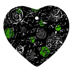 Green mind Heart Ornament (2 Sides)