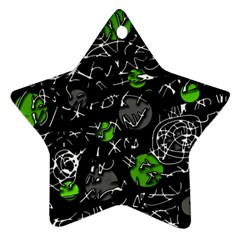 Green mind Star Ornament (Two Sides)