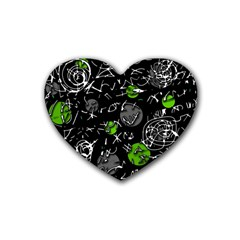 Green mind Heart Coaster (4 pack)