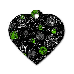 Green mind Dog Tag Heart (One Side)