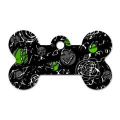 Green mind Dog Tag Bone (Two Sides)