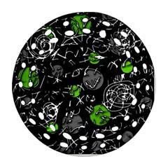 Green mind Ornament (Round Filigree)