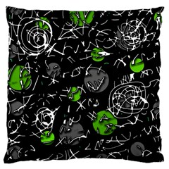 Green mind Large Cushion Case (Two Sides)