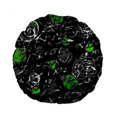 Green mind Standard 15  Premium Round Cushions