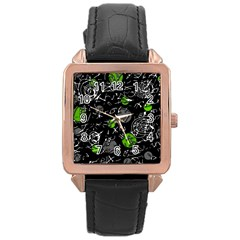 Green mind Rose Gold Leather Watch