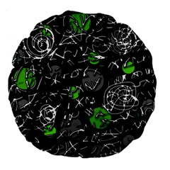 Green mind Large 18  Premium Flano Round Cushions