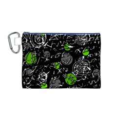Green mind Canvas Cosmetic Bag (M)