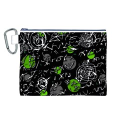 Green mind Canvas Cosmetic Bag (L)