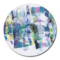 Background Color Circle Pattern Round Mousepads