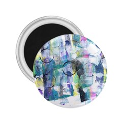 Background Color Circle Pattern 2.25  Magnets
