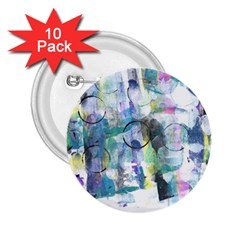 Background Color Circle Pattern 2.25  Buttons (10 pack)