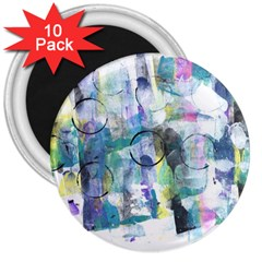 Background Color Circle Pattern 3  Magnets (10 pack)