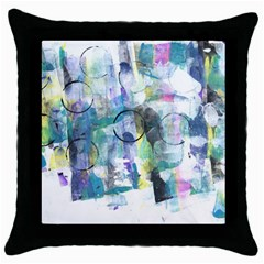 Background Color Circle Pattern Throw Pillow Case (Black)