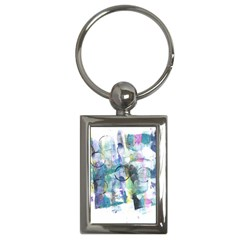 Background Color Circle Pattern Key Chains (Rectangle)