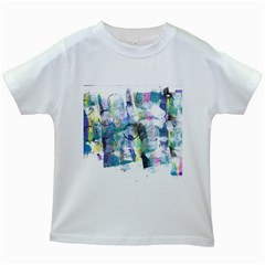 Background Color Circle Pattern Kids White T-Shirts