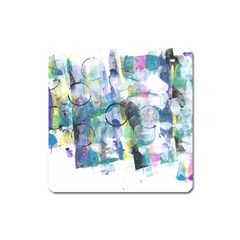 Background Color Circle Pattern Square Magnet