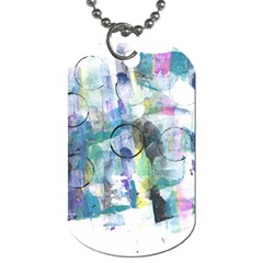 Background Color Circle Pattern Dog Tag (One Side)