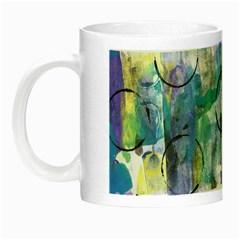 Background Color Circle Pattern Night Luminous Mugs