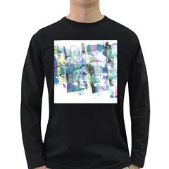Background Color Circle Pattern Long Sleeve Dark T-Shirts