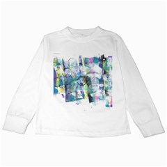 Background Color Circle Pattern Kids Long Sleeve T-Shirts